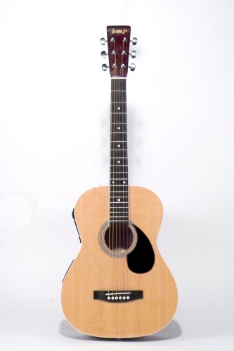 Saga 36 Inch One Man Band Acoustic Guitar With On Board Electronic Accompaniment, Natural