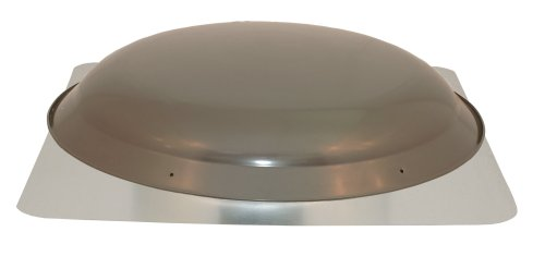 Cool Attic CX3000EEAMWG Power Attic Roof Mount Ventilator with 2.1-Amp PSC Motor and Steel Flange, Weather Grey Galvanized Steel Dome