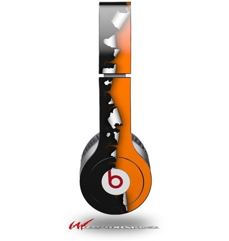 Ripped Colors Black Orange Decal Style Skin (Fits Genuine Beats Solo Hd Headphones - Headphones Not Included