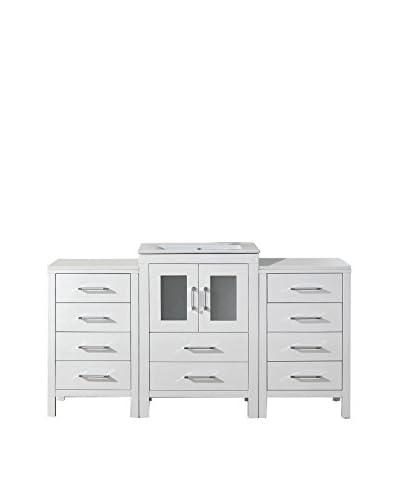 Virtu USA Dior 60 Single Bath Vanity Cabinet, White