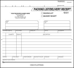 delivery receipt template microsoft word