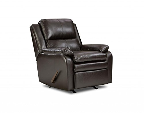 Simmons Upholstery U566-19 Soho Espresso Bonded Leather Rocker Recliner front-407327