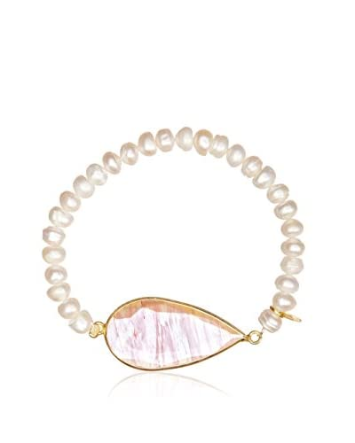 Silver Luxe Pulsera France And Perla Rose