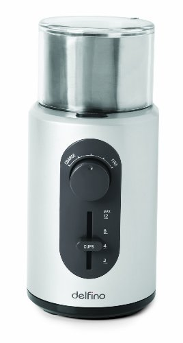 Delfino Intelligent Coffee & Spice Grinder by Toastess (Toastess Coffee Grinder compare prices)