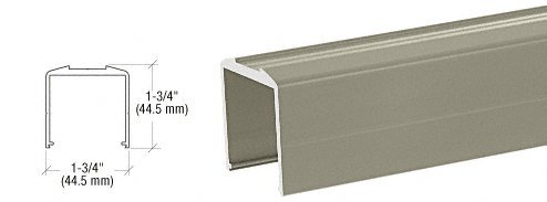Beige Gray Bottom Rail for Pickets 241