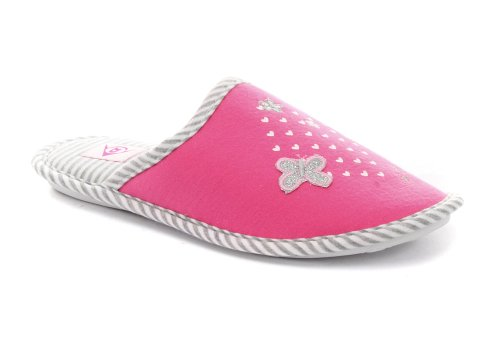 Image of Dunlop Jersey Pink Womens Slipper Mules ALL SIZES (B005Z1OYFG)