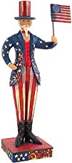 Jim Shore Patriotic Uncle Sam With Fl…