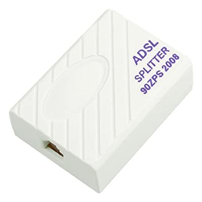 Telephone ADSL Modem 1 to 2 Line RJ11 6P2C Plug Splitter Filter