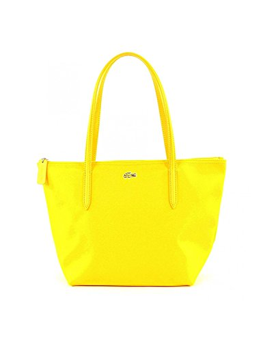 LACOSTE L.12.12 Concept Medium Small Shopping Bag Cyber Yellow