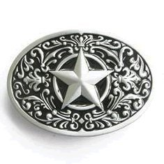 Western Lone Star Belt Buckle Black