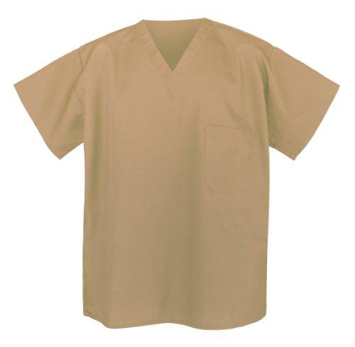 Khaki Scrub Shirts Med Tan Apparel Scrubs For Him Or Her front-914677