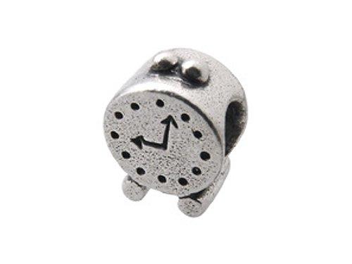 Zable(tm) Sterling Silver Alarm Clock Bead / Charm