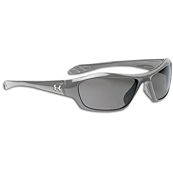 Under Armour Impulse Sport Sunglasses, Shiny Metallic Graphite Fade Frame/Gray Lens, one size