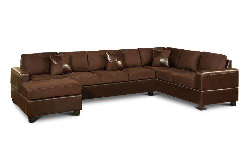 Bobkona 3 piece el dorado sectional sofa set with armed for Sectional sofas el dorado