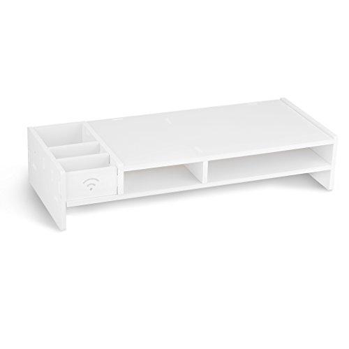 finether monitorst nder bildschirmst nder tischaufsatz schreibtischaufsatz schreibtischregal f r. Black Bedroom Furniture Sets. Home Design Ideas