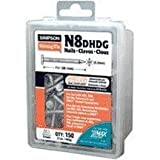Simpson Strong Tie 16DHDG Structural Connector 3-1/2-Inch by .162-Inch 8-Gauge Smooth Shank Hot-Dip Galvanized Nails