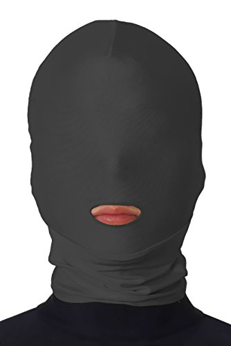 JustinCostume Adult Open Mouth Zentai Hoods Halloween Head Mask Costumes, Black, One Size (Hood And Mask compare prices)