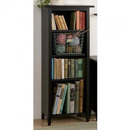 """Cherry Stain 48""""H Shaker Tall Bookcase Cherry Stain 48""""H Bookcase"""