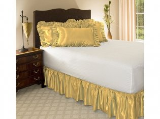 Gold Bed Skirt front-790871