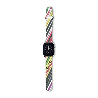 Kess InHouse Heidi Jennings 42mm Strap for Apple Watch - Non-Retail Packaging - Jamaican Me Crazy Yellow/Red