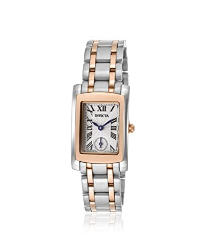 Invicta Women's 15623 Angel Silver/Metallic White 18K Rose Gold Plated Stainless Steel Watch