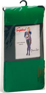 Ladies Opaque Green Tights Elf Robin Hood Fancy Dress One Size Fits All