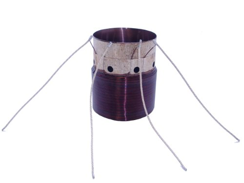 """2.5"""" Subwoofer Voice Coil - D2 Ohm - 5"""" 1600W Tinsel Leads Attached"""