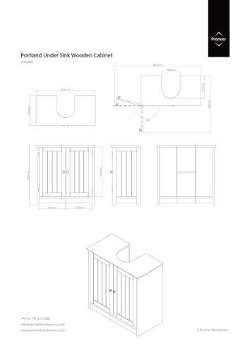 Premier housewares mueble para debajo del lavabo madera 2 puertas color blanco muebles - Mueble para debajo del lavabo ...