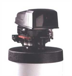 Metered water softener with 3/4