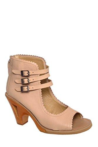Tululah Mid Heel Peep Toe Sandal