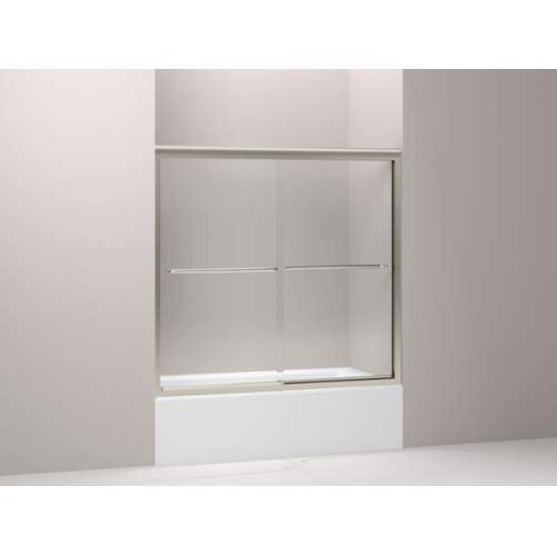 KOHLER K-702202-L-MX Fluence Frameless Bypass Bath Door, Matte Nickel (Kohler Tub Shower Doors compare prices)