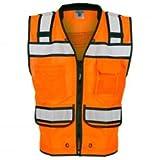 ML Kishigo Men's Class 2 High Visibility Surveyor's Vest Orange, 3XL, Model# S5005-3X