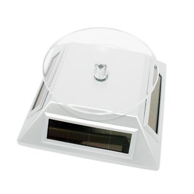 Komingo Solar Powered Rotating Rotary Phone Jewelry Display Stand Turntable