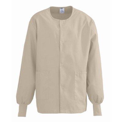 Medline Comfortease Unisex Warm-Up Scrub Jacket, Medium, Khaki