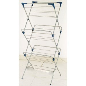 CLOTHES HORSE INDOOR FOLDING 3 TIER LAUNDRY AIRER DRYER ...