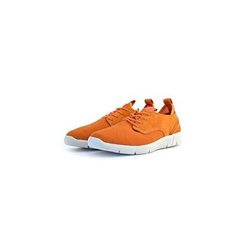 Scarpe sneakers Napapijri da uomo arancioni in camoscio e tessuto, 44