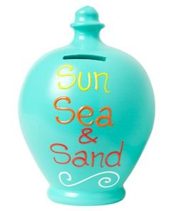 terramundi-money-pots-sun-sea-sand-aqua-with-lettering-in-yellow-orange-red