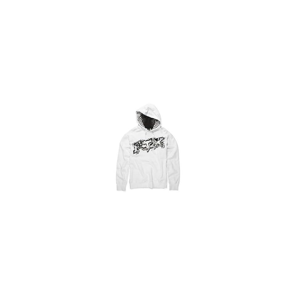 Fox Racing Inverse Pullover Fleece Hoody   2X Large/White