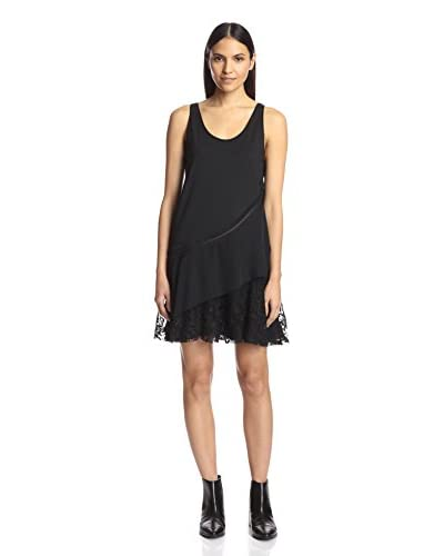 Thakoon Women's Layered Tank Dress with Lace  [Black]