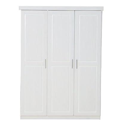 3-turiger Kleiderschrank MAGNUS in weiß