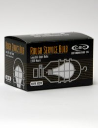 CEC Industries RSB100 (Frosted) Rough Service Bulbs, 130 V, 100 W, E26 Base, A-19 shape (Box of 6) (Rough Service Bulb 100w compare prices)