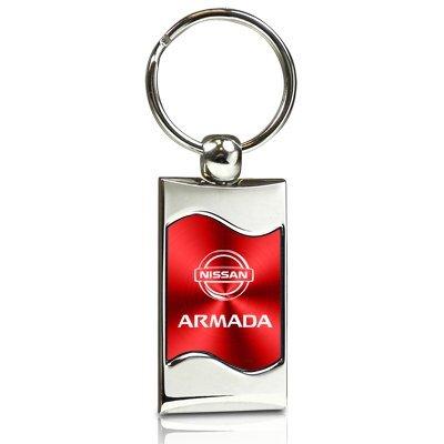nissan-armada-red-spun-brushed-metal-key-chain