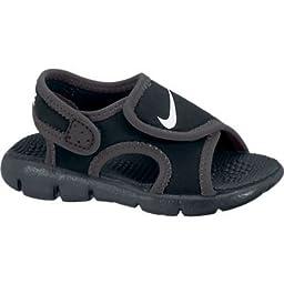 Boy\'s Nike Sunray Adjust 4 (TD) Toddler Sandal Black/Anthracite/White Size 6 M US
