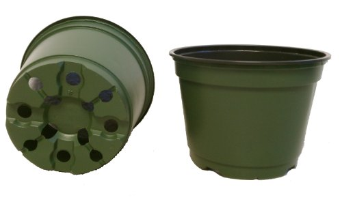 100 NEW 6 Inch TEKU Plastic Nursery Pots - Azalea Style ~ Pots ARE 6 Inch Round At the Top and 4.25 Inch Deep. (6 Plastic Pot compare prices)