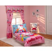 Hello Kitty Stars And Rainbows 4-Piece Toddler Bedding Set front-3203