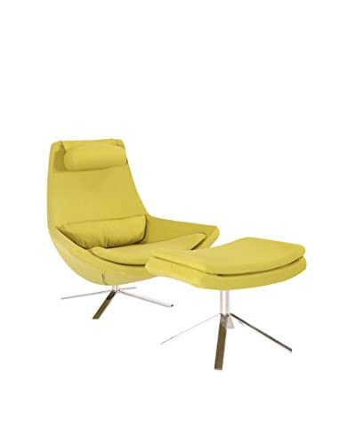 Kardiel Retropolitan Modern Lounge Chair and Ottoman, Dijon