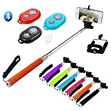 Selfie Stick With Monopod(Wireles Remote Shutter) For Iphone,Samsung And Android (With Android Version 4.0 And...