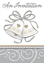 25th Wedding Anniversary 'Platinum Proposal' Invitations w/ Envelopes (8ct)