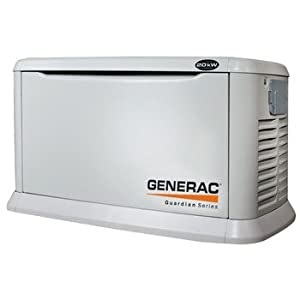 Generac Guardian Series 5887 20,000 Watt Air-Cooled Liquid Propane/Natural Gas Powered Standby Generator Without Transfer Switch (CARB Compliant) (Discontinued by Manufacturer)
