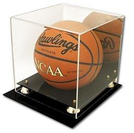 Collectible Deluxe Acrylic NBA - NCAA Size Basketball Display Case - With Mirror